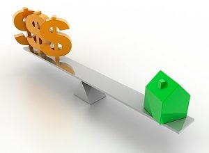 Home investment (isolated on white, Dollar symbol)